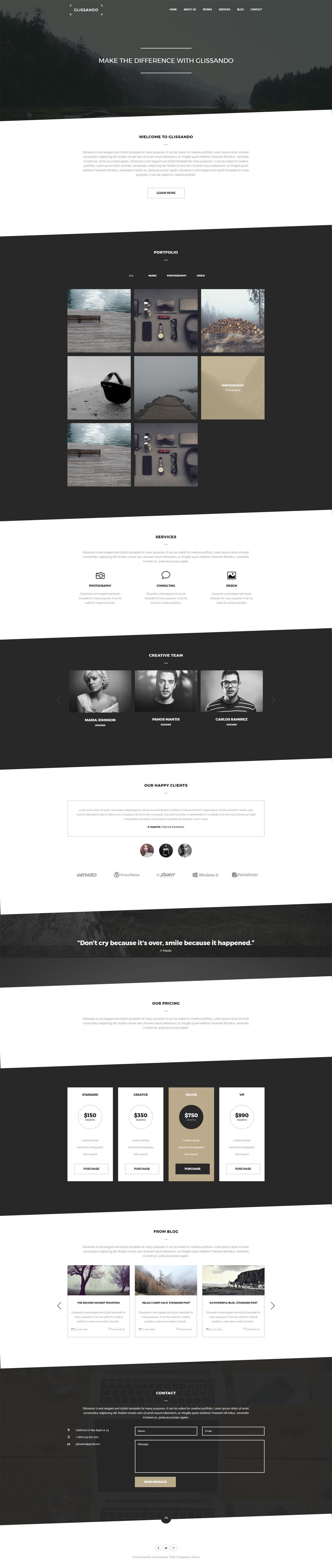 Joomla 创意模板 Glissando