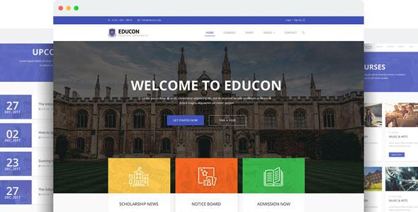Joomla学校模板-Educon